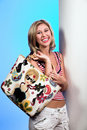 Free Blond With Bag 4 Stock Images - 2094624