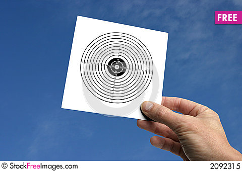 Free Hand With Target Royalty Free Stock Photo - 2092315