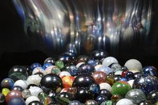 Free Glass, Balls With Blurred Reflection Effect Royalty Free Stock Photo - 2090925
