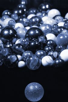 Free Glass-balls Concept In Blue Royalty Free Stock Photo - 2090965