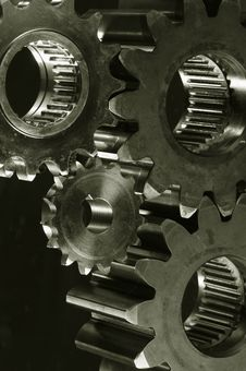 Free Gear-machinery In Old-bronze Toning Royalty Free Stock Photos - 2090998