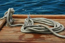 Free Rope On A Dock Stock Image - 2091101
