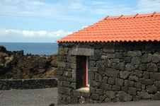 Old Azores Home Built In Stone Stock Image