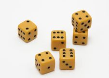 Free Six Yellow Cubes Royalty Free Stock Photos - 2091898