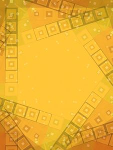 Abstract Gold Border Pattern Stock Image
