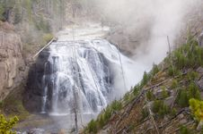 Free Waterfall In Yellowstone Royalty Free Stock Image - 2093716
