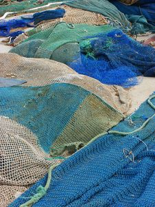 Free Colorful Fishing Nets Royalty Free Stock Images - 2097319