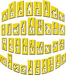Alphabet With People Royalty Free Stock Image