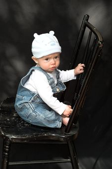 Free Baby On Chair Stock Photography - 2098922