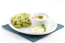 Free Spinach Tortellini Royalty Free Stock Images - 2099579