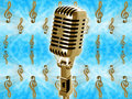 Free Gold Vintage Microphone Stock Photos - 20900763