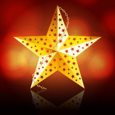 Free Gold Christmas Star Stock Photos - 20900013