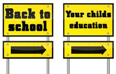 Free Two Different Educational Signs Royalty Free Stock Photos - 20900718