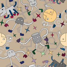 Free Robots Pattern Royalty Free Stock Images - 20901629