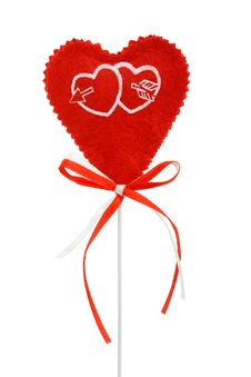 Free Valentines Heart On A Stick Stock Image - 20901691