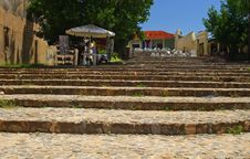 Stairways In Trinidad, Cuba Royalty Free Stock Photography