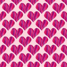 Free Pink Heart Seamless Pattern Royalty Free Stock Photos - 20901698