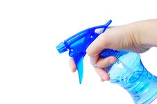 Free Spray Bottle In Hand Royalty Free Stock Image - 20902186