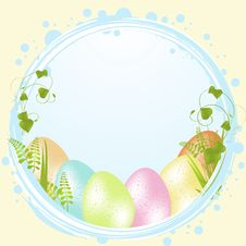 Free Speckled Easter Eggs And Border Stock Photography - 20902242