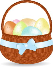 Free Basket Of Speckled Easter Eggs Royalty Free Stock Images - 20902249