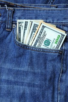 Dollars In The Pocket Stock Photos