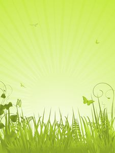 Free Green Tranquil Background Portrait Royalty Free Stock Images - 20902419