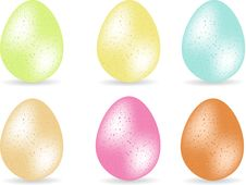 Free Speckled Easter Eggs Royalty Free Stock Photography - 20902477