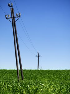 Free Power Lines Royalty Free Stock Photos - 20902818