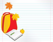Free School Accessories On The Notebook Pages Royalty Free Stock Images - 20903609