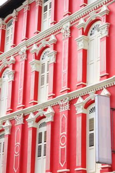 Free Red Building And White Windows Stock Photography - 20903912