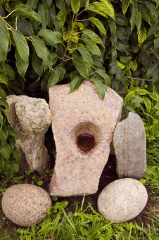 Free Original Stones In The Garden Royalty Free Stock Photos - 20904498