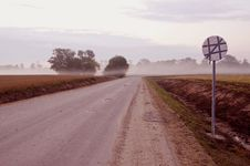 Early Morning Mist And Road Royalty Free Stock Images
