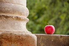 Free Red Apple And Column Royalty Free Stock Image - 20904506