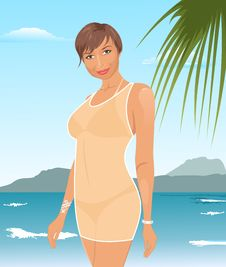 Free Pretty Suntanned Girl On Beach Royalty Free Stock Photo - 20904515