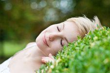 Free Closeup Portrait Of Beautiful Smiling Woman Outdoo Stock Photo - 20904780