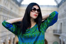 Fashionable Portrait Of A Beautiful Model Royalty Free Stock Photo