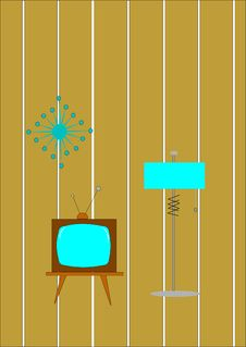 Free Retro Lamp And Tv Stock Photo - 20905270