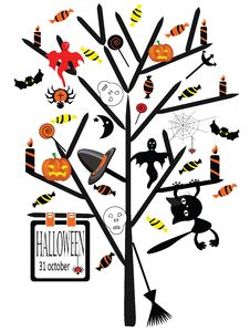 Free Halloween Tree Royalty Free Stock Image - 20905566