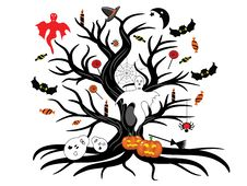 Free Halloween Tree Royalty Free Stock Photography - 20905737