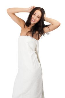 Free Woman In White Towel Stock Photo - 20906140
