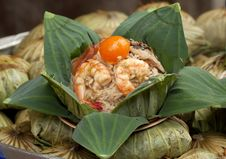 Free Thai Fried Rice In Lotus Leaf Package Royalty Free Stock Photo - 20906325