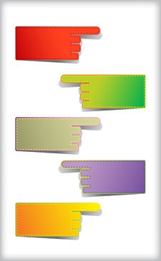 Set Of Colorful Blank Stickers. Royalty Free Stock Photos