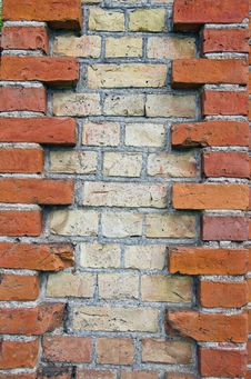 Various Bricks Wall Background Royalty Free Stock Photo