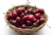 Free Red Cherries In The Basket Royalty Free Stock Images - 20907199