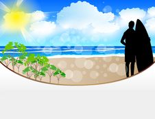 Free Summer Web Template Royalty Free Stock Photos - 20907208