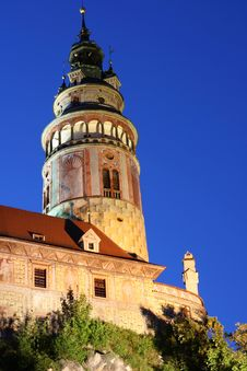 Free Krumlov Castle At Night Royalty Free Stock Images - 20907289