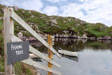 Free Fishing Trips Sign And Scenic View Royalty Free Stock Images - 20908369