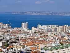 Free Aerial View Port Of Marseille City , France Royalty Free Stock Photo - 20908475