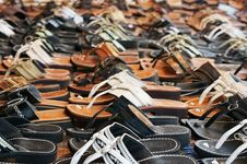 Free Hundreds Of Sandals Royalty Free Stock Photo - 20908635