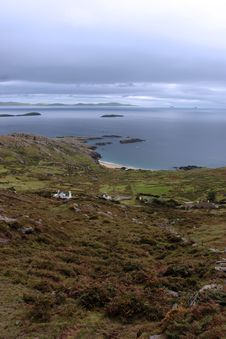 Wild Irish Fields And Islands View Stock Photography